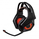 ASUS Audífonos Gamer ROG Strix Wireless 7.1, Inalámbrico, USB, Negro/Naranja