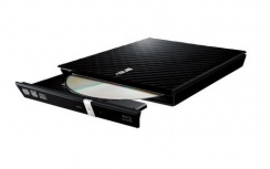 ASUS SDRW-08D2S-U LITE Quemador de DVD, DVD-R 8x / DVD+RW 8x, USB 2.0, Externo, Negro
