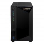 Asustor AS4002T NAS de 2 Bahías, Marvell Armada 7020 1.60GHz, 2GB DDR4, 3x RJ-45, USB 3.0, Negro - no incluye Discos
