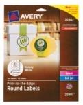 Avery Etiquetas Brillantes Redondas de 2'', 120 Etiquetas