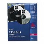 Avery Etiqueta para CD/DVD 5692, 120 Etiquetas (40 etiquetas + 80 etiquetas de lomo)