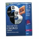 Avery Etiquetas para CD/DVD 5931, 50 Etiquetas, Blanco