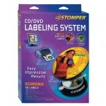Avery Stomper Pro kit para CD/DVD 98107, 24 Etiquetas, Blanco