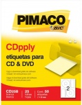 BIC Etiquetas para CD/DVD CD25B, 50 Piezas, Blanco