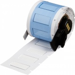 Brady Rollo de Etiquetas PSPT-250-1-WT, 2.5 x 1.1cm, 100 Etiquetas, Blanco