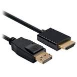BRobotix Cable DisplayPort Macho - HDMI Macho, 1.8 Metros, Negro