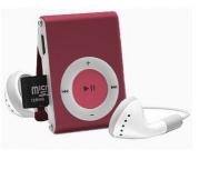 BRobotix Lector MicroSD y Reproductor MP3, USB 2.0, Rojo