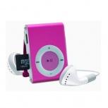 BRobotix Lector MicroSD y Reproductor MP3, USB 2.0, Rosa