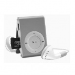 BRobotix Lector MicroSD y Reproductor MP3, USB 2.0, Plata
