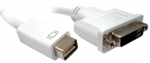 BRobotix Cable Mini DisplayPort Macho - DVI Hembra, 20cm, Blanco