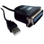 BRobotix Adaptador USB Macho - Centronics 36 pin Macho, Negro