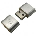 BRobotix Lector de Memoria 170188P, MicroSD, USB 2.0, Plata