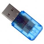 BRobotix Lector de Memoria 180412A, MicroSD, USB 2.0, Azul