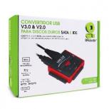 BRobotix Convertidor USB 3.0 - IDE,SATA, 480M/S, Negro