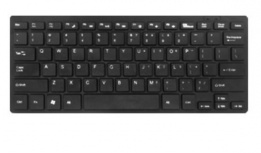 Teclado BRobotix 401254N, Alámbrico, USB, Negro (Inglés)