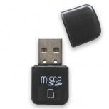 BRobotix Lector de Memoria 524691N, MicroSD, USB 2.0, Negro
