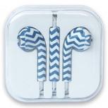 BRobotix Audífonos Intrauriculares para iPhone, 1.15 Metros, Azul/Blanco