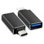 BRobotix Adaptador USB-C Macho - USB Hembra, Negro