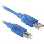BRobotix Cable USB-A Macho - USB-B Macho, 10 Metros, Azul
