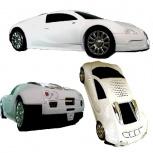 BRobotix Bugatti SC-885, MP3/MP4, microSD, USB 2.0, Blanco