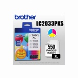 Cartucho Brother LC2033PKS Tricolor, 550 Páginas