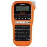 Brother P-touch Edge PT-E110, Impresora de Etiquetas, Transferencia Térmica, 180 x 180 DPI, Naranja