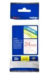 Cinta Brother TZE252 Rojo sobre Blanco, 24mm x 8m