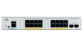 Switch Cisco Gigabit Ethernet Catalyst 1000, 16 Puertos PoE + 2 Puertos SFP, 36 Gbit/s, 15.360 Entradas - Gestionado