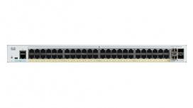 Switch Cisco Gigabit Ethernet Catalyst 1000, 48 Puertos PoE+ 740W, 4 Puertos SFP, 104 Gbit/s, 15.360 Entradas - Gestionado