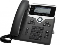 Cisco Teléfono IP con Pantalla 3.28'' 7811, Altavoz, 1 Linea, PoE, Negro/Plata