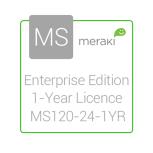 Cisco Meraki Licencia y Soporte Empresarial, 1 Licencia, 1 Año, para MS120-24
