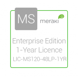 Cisco Meraki Licencia y Soporte Empresarial, 1 Licencia, 1 Año, para MS120-48LP