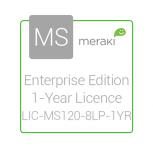 Cisco Meraki Licencia y Soporte Empresarial, 1 Licencia, 1 Año, para MS120-8LP
