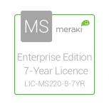 Cisco Meraki Enterprise License and Support, 1 Licencia, 7 Años, para MS220-8