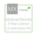 Cisco Meraki Licencia de Seguridad Avanzada y Soporte, 1 Licencia, 3 Años, para MX67W