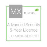 Cisco Meraki Licencia de Seguridad Avanzada y Soporte, 1 Licencia, 5 Años, para MX84
