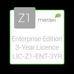 Cisco Meraki Licencia y Soporte Empresarial, 1 Licencia, 3 Años, para Z1