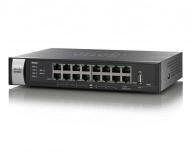 Router Cisco Gigabit Ethernet con Firewall RV325, Alámbrico, 16x RJ-45, 2x USB 2.0,
