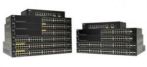 Switch Cisco Gigabit Ethernet SG250-26-K9-NA, 24 Puertos 10/100/1000Mbps + 2 Puertos SFP, 52 Gbit/s, 8000 Entradas - Gestionado