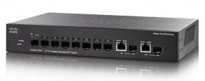 Switch Cisco Gigabit Ethernet SG350-10SFP, 10 Puertos SFP, 20 Gbit/s, 16.384 Entradas - Gestionado