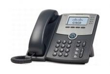 Cisco Teléfono IP de 4 Líneas con Pantalla SPA504G, PoE y PC, 2x RJ-45, Negro