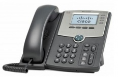 Cisco Teléfono IP de 4 Líneas con Pantalla SPA514G, Gigabit Ethernet Switch de 2 Puertos, PoE, Negro/Plata