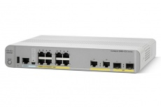 Switch Cisco Gigabit Ethernet Catalyst 2960-CX PoE LAN Base, 8 Puertos 10/100/1000Mbps + 2 Puertos SFP, 12 Gbit/s - No Administrable