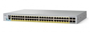 Switch Cisco Gigabit Ethernet Catalyst C2960L-48PQ, 48 Puertos 10/100/1000Mbps + 4 Puertos SFP+, 104 Gbit/s, 8000 Entradas - Gestionado