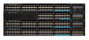 Switch Cisco Gigabit Ethernet Catalyst 3650 PoE 2x10G Uplink IP Base, 48 Puertos 10/100/1000Mbps + 2 Puertos SFP+, 176 Gbit/s, 32.000 Entradas - Gestionado