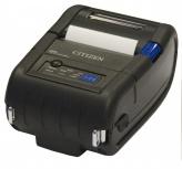 Citizen Impresora Móvil, Térmica, Inalámbrico, 203 x 203DPI, Bluetooth, Negro