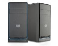 Gabinete Cooler Master MasterBox E300L, Mini-Tower, micro-ATX/mini-ITX, USB 3.1, sin Fuente, Negro/Azul