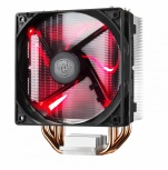 Disipador CPU Cooler Master Hyper 212 LED, 120mm, 600 - 1600RPM, Negro/Metal/Rojo