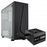 Gabinete Corsair SPEC-05 con Ventana LED Rojo, Midi-Tower, ATX, USB 3.0, incluye Fuente de 550W, Negro