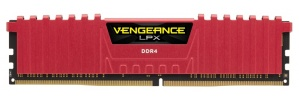Kit Memoria RAM Corsair Vengeance LPX DDR4, 2666MHz, 16GB (2 x 8GB), CL16, Rojo